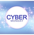 Cyber Monday Sale background Promotional banner vector image vector image