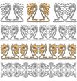 design elements of vine in art nouveau style vector image vector image