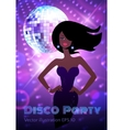 Disco party flyer vector image vector image