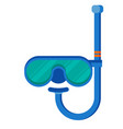 Diving mask with snorkel flat icon modern