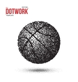 Dotwork Basketball Sport Ball Icon made in vector image