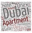 Dubai s Great Desert Safari text background vector image vector image