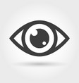 eye icon isolated on white vector image vector image