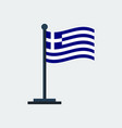 flag of greeceflag stand vector image vector image