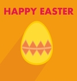 Flat easter egg with wishes on orange background vector image vector image