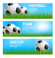 football cup poster for soccer sport team vector image