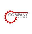gear logo concept- logo concept abstract logo vector image vector image