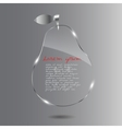 Glass pear beautiful vector image vector image