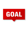 goal red tag vector image vector image