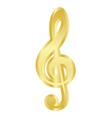 gold treble clef vector image vector image