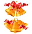 golden christmas bells vector image vector image