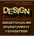 golden font design for typography vector image