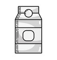 grayscale delicious milk box product to nutrient vector image vector image