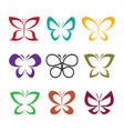 group butterfly design on white background vector image vector image