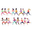 group isolated happy smiling healthy strong vector image