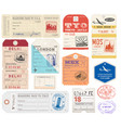grunge luggage tags set 2 vector image vector image
