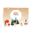 hand drawn abstract merry christmas and vector image vector image