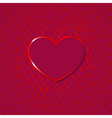 heart for valentines day on grunge background vector image