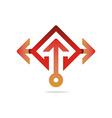 hexa arrow perfect icon style vector image vector image