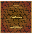 invitation card with sweet cookies vector image vector image