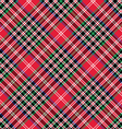 Kemp tartan fabric texture check diagonal seamless vector image vector image