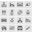 line car wash icon set vector image vector image