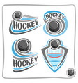logo hockey puck vector image vector image