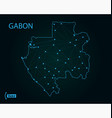 map gabon world map vector image vector image
