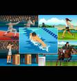 modern pentathlon sport vector image vector image