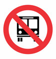 no bus traffic sign vector image vector image