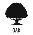 oak tree icon simple black style vector image