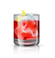 old-fashioned cocktail isolated on the white vector image