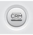 Online CRM System Icon Grey Button Design vector image vector image
