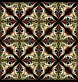 ornate vintage floral 3d seamless pattern vector image