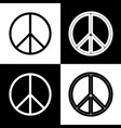 peace sign black and white vector image vector image