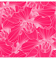 Pink and white orchid flower seamless pattern vector image vector image