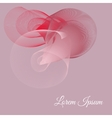 pink card with 3D tape vector image vector image