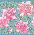 pink peonies pattern vector image