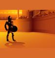 rome gladiator posing in arena vector image