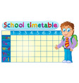 school timetable theme image 1 vector image vector image