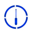 screwdriver turn icon vector image