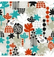 Seamless pattern with birds in crown vector image vector image