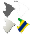 Sergipe blank outline map set vector image vector image