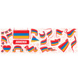 set national flag armenia