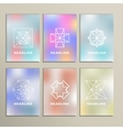 Set of abstract figures on a blurred background vector image vector image
