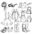 Set of clothes for women vector image
