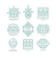 set original organic logos linear vector image