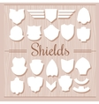 Shields Set on wooden background