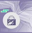 shopping bag icon on purple abstract modern vector image vector image