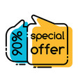special offer and price on sale promotion tags vector image vector image